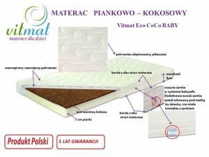 MATERAC Piankowo – kokosowy Vitmat Eco CoCo BABY 140/70