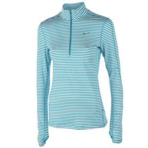 bluza do biegania damska NIKE ELEMENT STRIPE 1/2 ZIP / 645648-407 - bluza do biegania damska NIKE ELEMENT STRIPE 1/2 ZIP - 2825521641