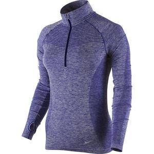 bluza do biegania damska NIKE DRI-FIT KNIT 1/2 ZIP / 719469-457 - bluza do biegania damska NIKE DRI-FIT KNIT 1/2 ZIP - 2825522461