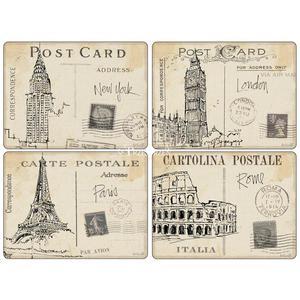 PODKŁADKI KORKOWE PIMPERNEL - Postcard Sketches - DUŻE - 2879713192