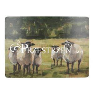 DUŻE PODKŁADKI KORKOWE NA STÓŁ - Owce na łące - Creative Tops - 2882245715