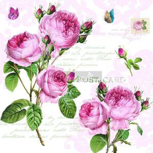 SERWETKI PAPIEROWE - Romantic Roses - RÓŻE - RMR - 2586457899