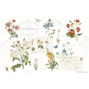 DUŻA PODKŁADKA POLIPROPYLENOWA NA STÓŁ - Natural - Kwiaty - 2864292566