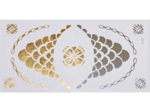 Gold Silver | Jewelry Flash Tattoo stickers W-081, 21x11cm - 2824064151