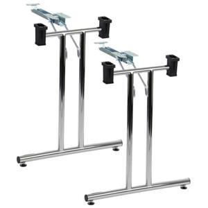 Stelaż składany stołu lub biurka - chromowany. Dostępny w dwóch wymiarach. (SC921/Ch)