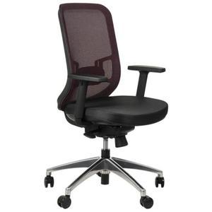 Krzesło obrotowe biurowe z podstawą aluminiową i wysuwem siedziska model GN-310/BORDO fotel biurowy obrotowy - 2825223937