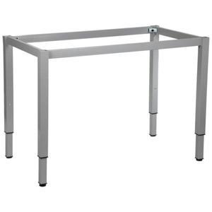 Stelaż ramowy regulowany na wysokość, 116x66 cm - noga o przekroju kwadratowym. Do stołu lub biurka. - 2825223941