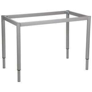 Stelaż ramowy regulowany na wysokość, 116x66 cm - noga okrągła. Do stołu lub biurka. - 2825223942