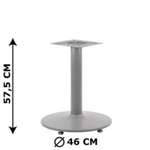 Podstawa stolika NY-B006, aluminium, wysokość 57,5 cm (stelaż stolika, stołu) - 2825223944