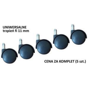 Uniwersalne kółka do krzesła lub fotela - trzpień o śr. 11 mm - 2825223986