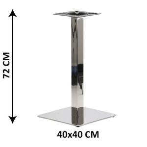 Podstawa stolika SH-3002-1/60/P , 40x40 cm, stal nierdzewna polerowana (stela - 2862373125