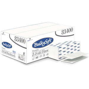 Ręcznik papierowy składany Z Bulkysoft Premium 2 warstwy 3750 szt. biały celuloza - 2847895754