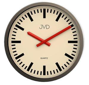Zegar ścienny JVD H306.1 CZYTELNY 30 cm ALUMINIUM - 2847547601