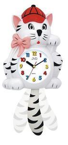 Zegar ścienny JVD HF64.2 Kotek Kolorowy Dziecięcy - 2847547651
