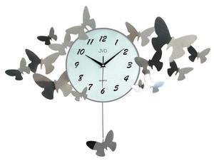 Zegar ścienny JVD HJ01 Metal Motyle szerokość 74 cm - 2847547652