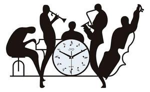 Zegar ścienny JVD HJ70 MUZYCZNY METAL SZKŁO 40 x 60 cm - 2847547667