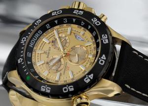 Zegarek Bisset BSCC03 TIGB Black Gold Multi - 2847546730