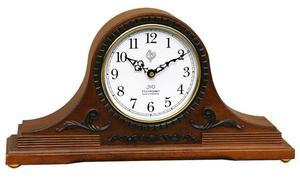 Zegar kominkowy JVD NSR11.1 DREWNIANY WESTMINSTER DCF77 - 2847547787