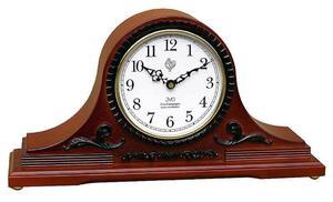 Zegar kominkowy JVD NSR11.3 DREWNIANY WESTMINSTER DCF77 - 2847547789
