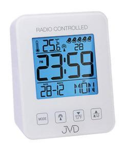 Budzik JVD RB38.1 Termometr, 5 alarmów, DCF77 - 2847547802