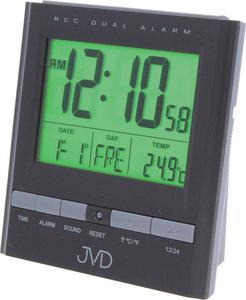 Budzik JVD RB92.2 Termometr, dwa alarmy, DCF77 - 2847547819
