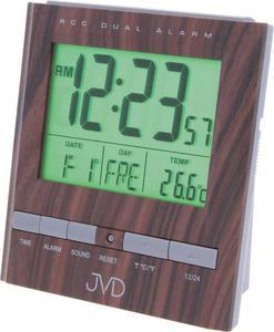 Budzik JVD RB92.3 DCF77 2 ALARMY TERMOMETR - 2847547820