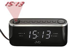 Zegar JVD SB97.3 z projekcją, Radio FM, 2 alarmy - 2847547877