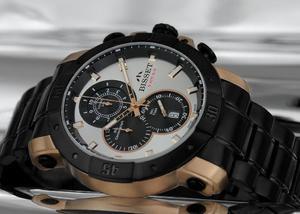 Zegarek Bisset BSDD90 TISB BLACK GOLD Chrono WR50 - 2847546747