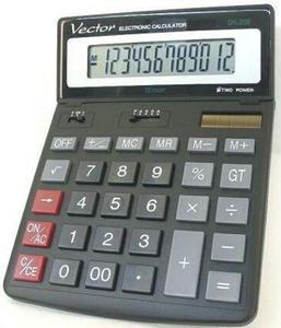 Kalkulator Vector DK-206 BLK- regulowany wyświetlacz - 2847547999