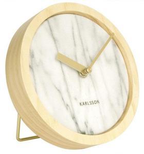 Zegar ścienny Karlsson KA5583WH 17 cm Drewno Marmur Stołowy - 2847548031