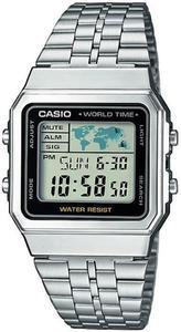 Zegarek Casio A500WEA-1EF Retro - 2835175889