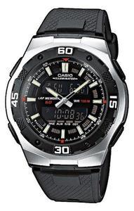 Zegarek CASIO AQ-164W-1AVEF Analogowo-cyfrowy 60 LAP - 2847546802