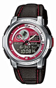 Zegarek Casio AQF-102WL-4BVEF Termometr - 2847546813