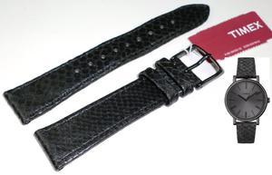 Pasek do zegarka Timex T2N959 P2N959 18 mm Skóra - 2847548624