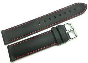 Silikonowy pasek do zegarka 20 mm Tekla TS20.001.01 - 2840870303