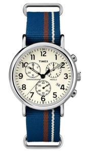 Zegarek TIMEX TW2P62400 WEEKENDER INDIGLO CHRONO - 2847549151