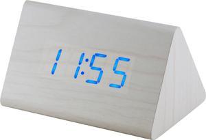 Budzik MPM C02.3569.00 blue led, termometr, 3 alarmy - 2850399398