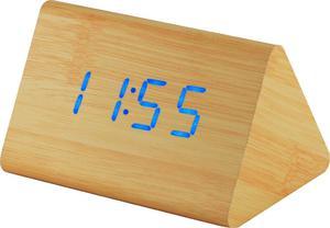 Budzik MPM C02.3569.51 blue led, termometr, 3 alarmy - 2850399399