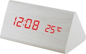 Budzik MPM C02.3570.00 red led, termometr, 3 alarmy - 2850399400