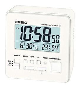 Budzik Casio DQ-981-7ER Termometr Higrometr - 2847546941
