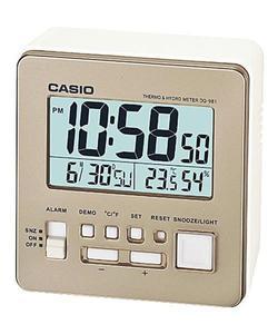 Budzik Casio DQ-981-9ER Termometr Higrometr - 2847546943
