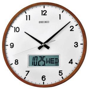 Zegar ścienny JVD N12004.11 SZKŁO DREWNO