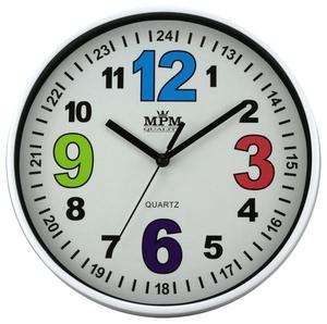 Zegar ścienny MPM E01.3686.00 fi 20 cm Kolorowy - 2856442589
