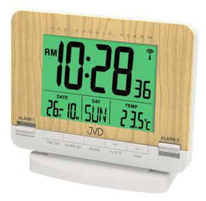 Budzik JVD RB9242.1 Termometr DCF77 Dwa Alarmy - 2857903112