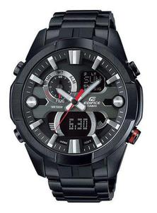 Zegarek CASIO ERA-201BK-1AVEF EDIFICE BLACK A/C TERMOMETR - 2847547048