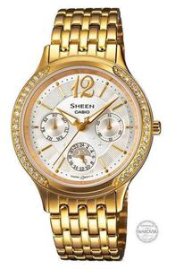 Zegarek CASIO SHE-3030GD-7AUER Sheen SWAROVSKI MULTIDATA - 2847547453