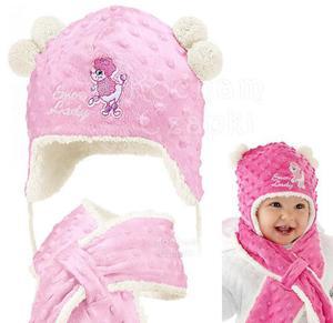 Komplet zimowy czapka z szalikiem Snow Lady rozm. 48-49 - 2854184259