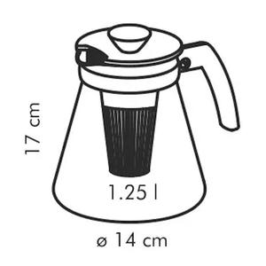 Dzbanek do herbaty i kawy z zaparzaczem szklany TESCOMA TEO ZIELONY 1,25 l - 2848860162