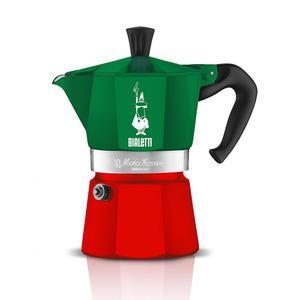 Kawiarka aluminiowa ciśnieniowa BIALETTI MOKA EXPRESS ITALIA WIELOKOLOROWA - kafetiera na 3 filiżanki espresso - 2885702443