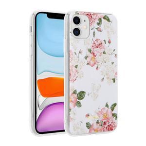 Etui do iPhone 11 Crong Flower Case [różowe kwiaty] - 2902867357